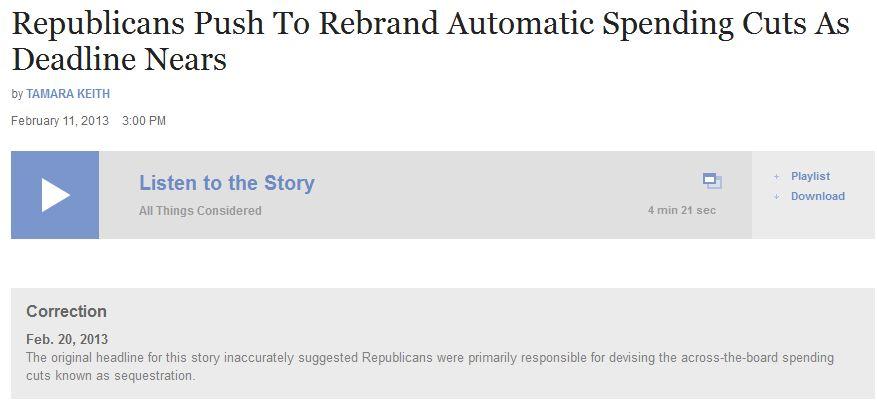 NPR sequester
