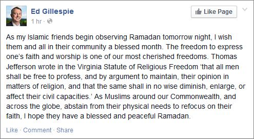 Gillespie on FB