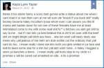 Kayla Lynn Taylor FB post