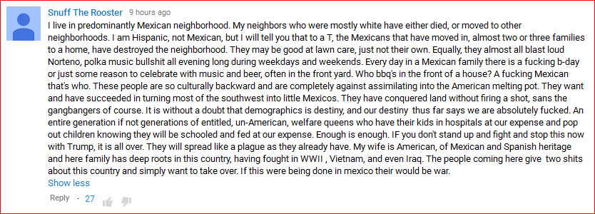 DeportRacism YouTube comment04