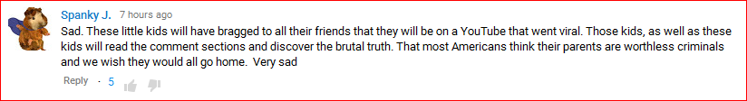 DeportRacism YouTube comment13