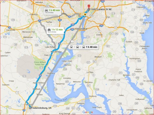 Fredericksburg to DC