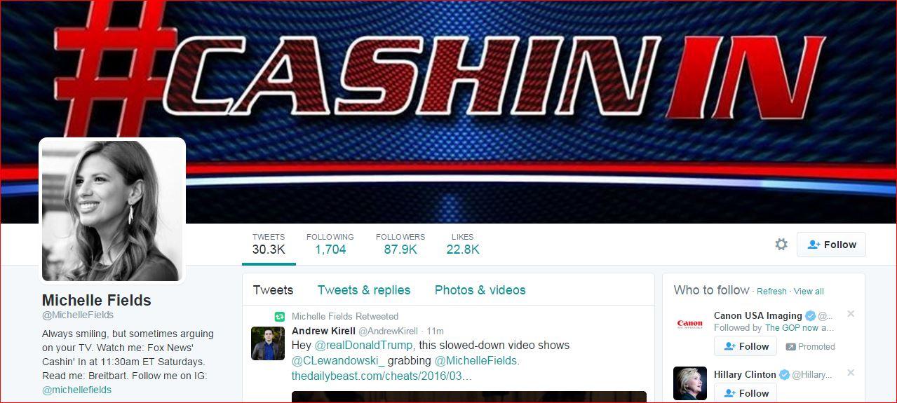 Michelle Field Twitter page