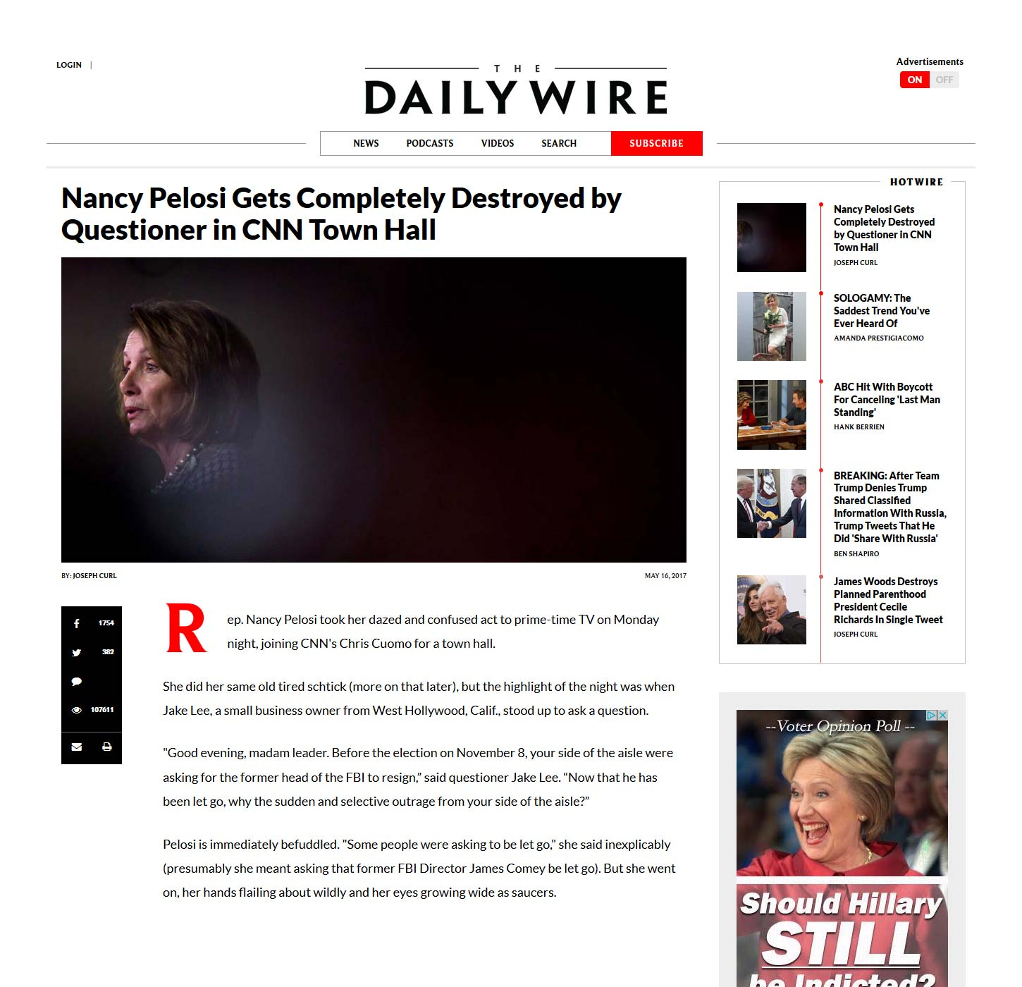 Drudge Promotes Daily Wire #FakeNews Clickbait Aggregation ... Daily Wire
